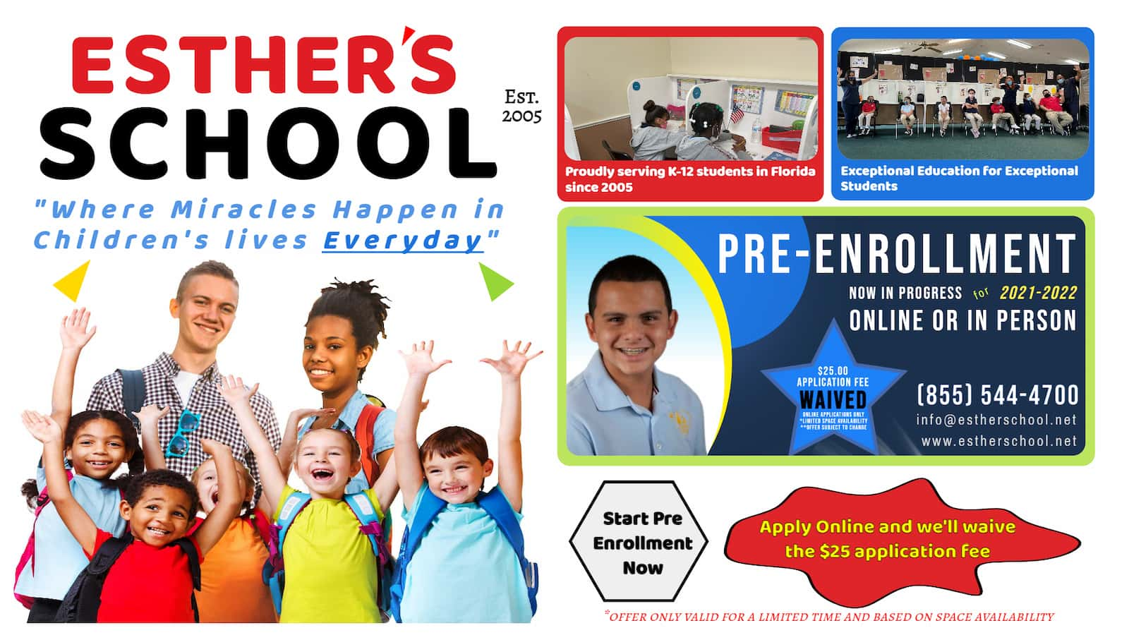 ESTHER'S SCHOOL Pre Enroll Online now